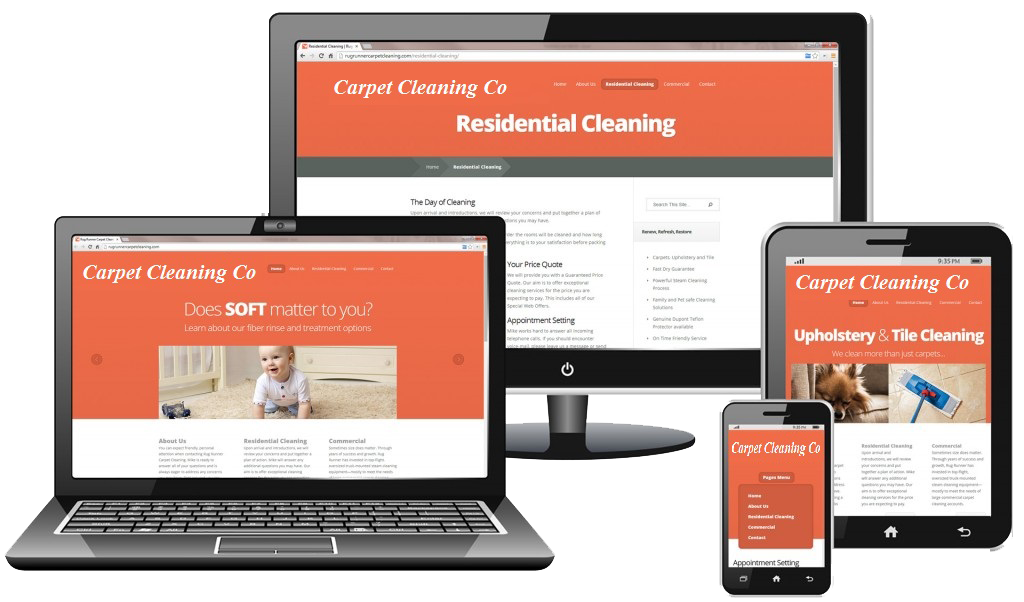 Carpet Cleaning Web Design